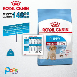 Hrana za pse - Medium Puppy 15kg