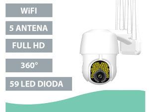 Vanjskapokretna kamera 59 LED dioda za nadzor FullHD