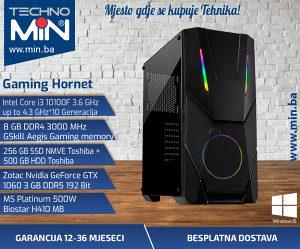Gaming Hornet, i3 10100F 3.6/8/256SSD500/10603GB
