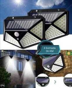 Led solarni reflektor/ 100 dioda / 4kom 36KM