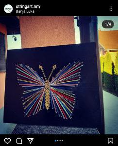 Rucni rad string art leptir poklon pokloni