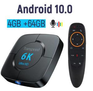 Android 10.0 TV 6K Box 4GBram64GB  Daljinski IPTV