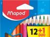 Bojice drvene 12/1   2 fluo bojice Gratis Maped 832021