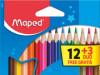 Bojice drvene 12/1   3 fluo bojice Maped 832271