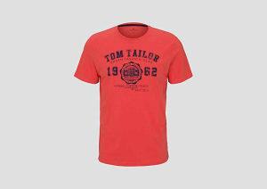 Tom Tailor Majica Logo Crvena 10100863710-11042