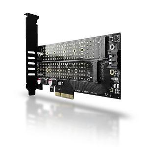 AXAGON PCEM2-D PCI-E 3.0 4x - DUAL M.2 SSD (NVMe +...