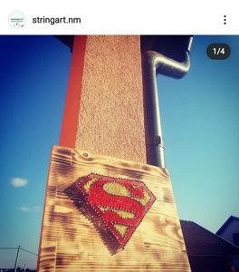 Rucni rad string art Superman supermen poklon pokloni