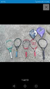Teniski reketi Wilson, head, dunlop,prokennex, rossigno