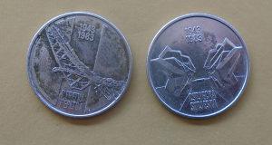 JUGOSLAVIJA 10  DIN  + 10 DIN 1983 /SUTJESKA+NERETVA/