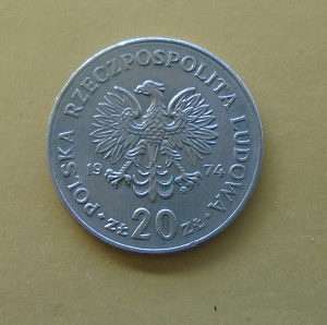 POLJSKA,20 ZLOTA 1974