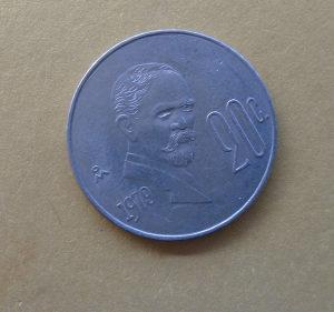 MEKSIKO,20 CENTAVOS 1979
