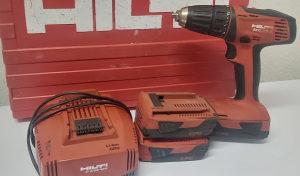 Aku busilica HILTI SFC 22-A punjac kofer 3 baterije
