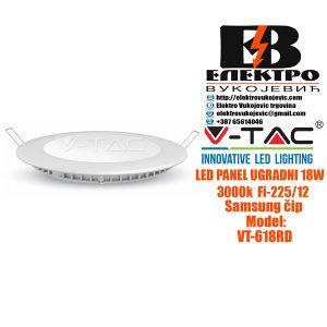 LED panel ugradni 18W 3000K Fi-225/12