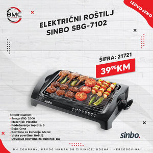 Elektricni rostilj Sinbo 2000w