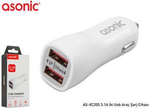 Autopunjač Asonic AS-XC205 3.1A 2xUSB