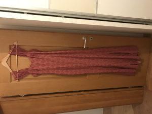 svečana haljina, roza duga, sivana po mjeri