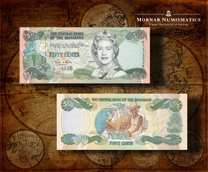 1/2 Dollar 2001 UNC Bahami