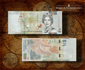 1/2 Dollar 2019 UNC Bahami