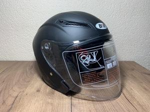 Kaciga za motor skuter poluotvorena naocale