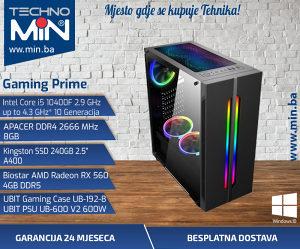 Gaming Prime, i5 10400F 2.9/8/240SSD/RX5604GB/600W