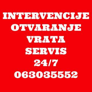 OTVARANJE SERVIS 24/7 ULAZNA SIGURNOSNA VRATA 063035552
