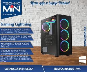 Gaming Lighning, i7 10700F 2.9/16/500SSD/RTX3060TI8GB