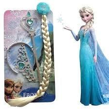 Frozen Elza-Set pletenica,kruna,stap i rukavice