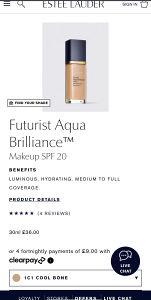 Estee Lauder Aqua brilliance foundation AKCIJA