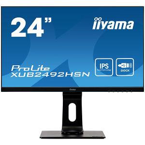 """Iiyama Pro Monitor 24"""" USB-C XUB2492HSN-B1 IPS RJ45 75"""