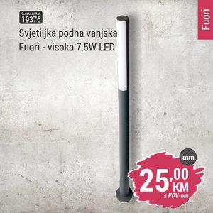 19376 Svjetiljka podna vanjska Fuori visoka - LED 7,5W
