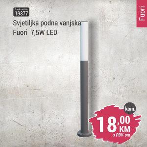 19377 Svjetiljka podna vanjska Fuori - LED 7,5W