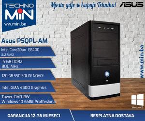 Asus P5QPL-AM, Intel E8400 3.2/4/120SSD/DVD-RW/Tower
