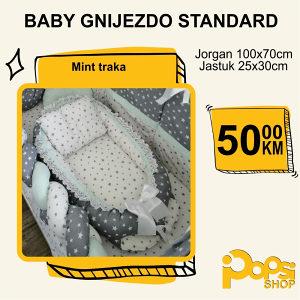 Baby gnijezdo ručno rađeno 100% pamuk