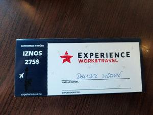 Vaucer Experience work and travel kupon za Ameriku x1