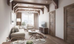 Jahorina apartman 69.5m2 2 spavaće sobe Snježna dolina