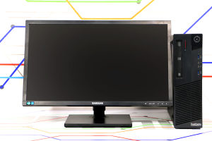 """Lenovo i5 4Gen SSD Monitor 24"""" FullHD"""