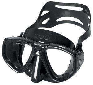 Maska za podvodni ribolov i ronjenje. Seac One Black