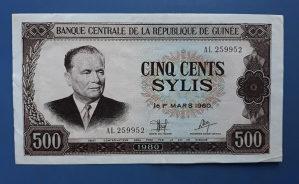Novčanica GUINEA--TITO