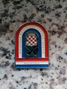 HVO Herceg Bosna Mostar! Vojna službena oznaka! Rijetko