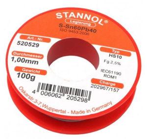 Zica za lemljenje tinol 100g STANNOL 1mm