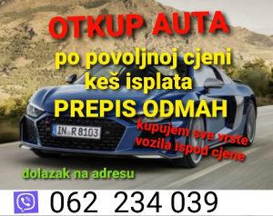 OTKUP AUTA kupujem vozila 062234039 AUTO automobili