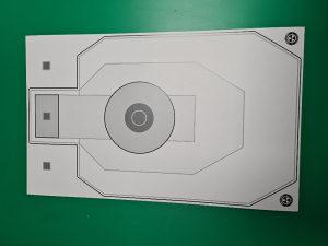 Meta silueta, kartonska 50x30cm