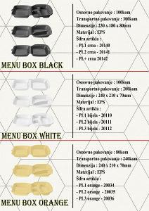 Stiropor Menu box
