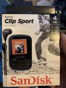 Sandisk clip sport 4gb mp3 60km 8gb - 80km