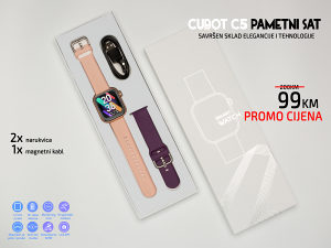 CUBOT C5 Smartwatch pametni sat Pink/Gold i Crni GARANC