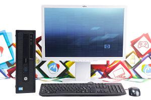 Office uredski set HP 800 G1 i5 240 SSD + Fujitsu 22''