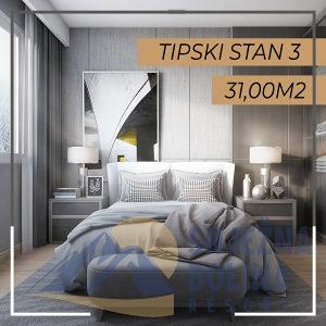 500950 Jahorina studio apartman 31m2 sa jednom spavaćom