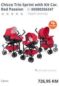 Chicco liteway 3 kolica za bebe