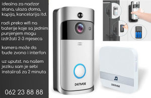 Wifi kamera+zvono na baterije 24/7 nadzor doma