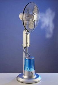 Ventilator s raspršivačem vode u vodenu maglu